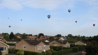 Hot Air balloons over Bedale