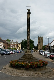 Market Cross on Market place looking towards St Gregory's Church