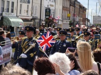 Armed Forces parade through Bedale town